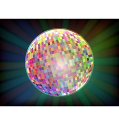Disco ball black background vector