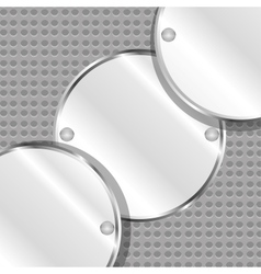 Abstract background with round metal plates vector image