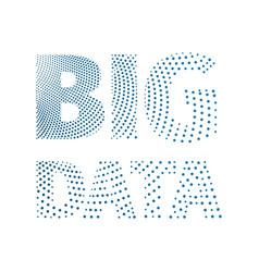 big data conceptual inscription from a blue dots vector image vector image