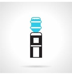 Black water dispenser flat icon vector image vector image