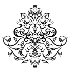 Black-white ornamental frame vector