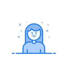 blue icon in flat line vector image vector image