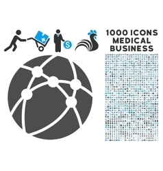 Browser Icon with 1000 Medical Business Symbols vector image