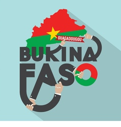 Burkina faso typography design vector