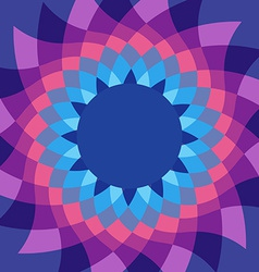 Caleidoscope flower vivid colors background vector
