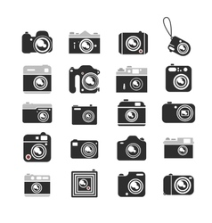 Cameras icons set vector image