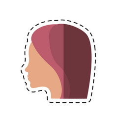Cartoon women day profile girl icon vector