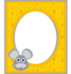 cheese frame vector image