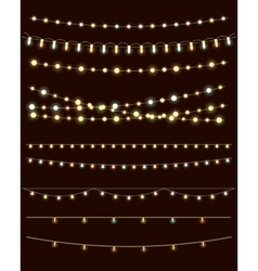christmas lights vector image vector image