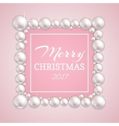 Christmas pearl frame fashion pearls vector