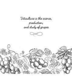 decorative frame vertical scroll ornament doodle vector image