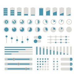 Different interface controls design elements Flat vector image vector image