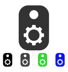 Gear tag flat icon vector