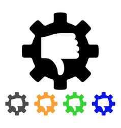 Gear thumb down icon vector