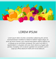healthy food background design template banner vector image