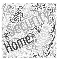 Home security camera system word cloud concept vector