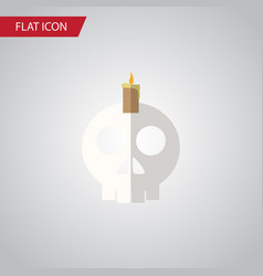 Isolated skull flat icon cranium element vector