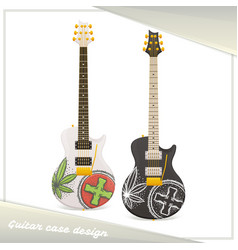 Medical marijuana guitar three vector