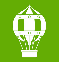 old fashioned helium balloon icon green vector image vector image