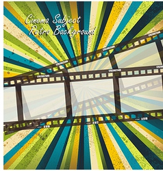 Old negative film strip vector image vector image