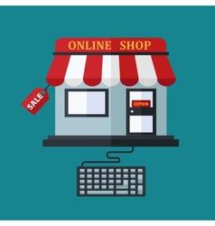 Online shop sale concept vector image