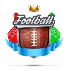 Premium symbol of american football label vector