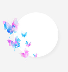 round background with beautiful watercolored vector image vector image