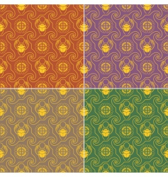 seamless wallpaper egypt 2 gold vector image vector image