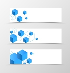 Set of banner geometric design vector