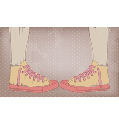 Sneakers vector image