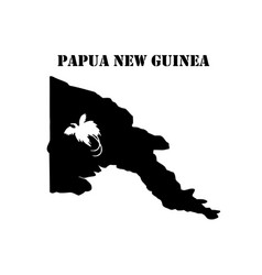 Symbol of isle of papua new guinea and map vector