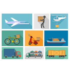 types of delivery vector image vector image