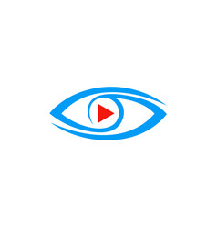 video play eye logo vector image