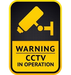 Video surveillance sticker 10eps vector image