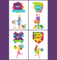 -25 off best discount banners vector
