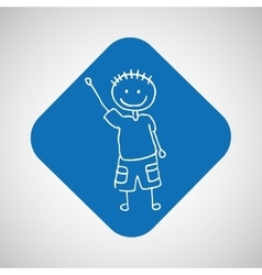 Happy child icon vector