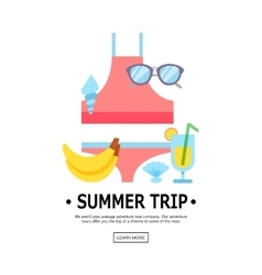 World travel vacations summer holiday tourism vector