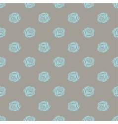 Seamless pattern bud roses vector