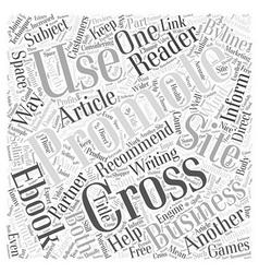 Cross promoting techniques that work word cloud vector