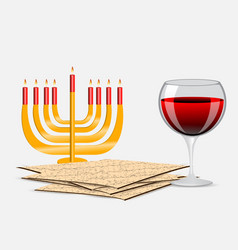 Passover background vector
