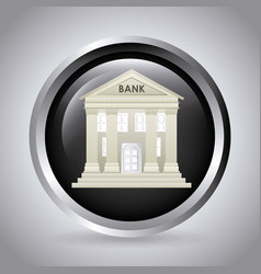 Bank and money design vector