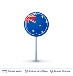 australia flag isolated on white vector image