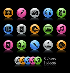 Media entertainment icons vector