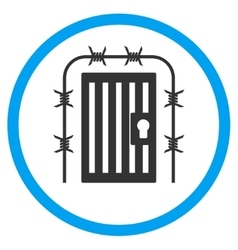 Prison entrance rounded icon vector