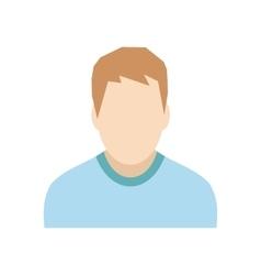 Teenager avatar sign vector