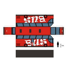 Paper model of a red bus vector