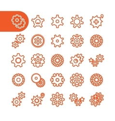Gear icons vector