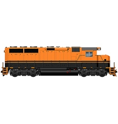 Black orange american locomotive vector