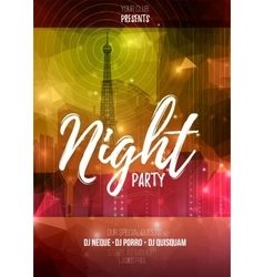 Flyer template for night party abstract vector