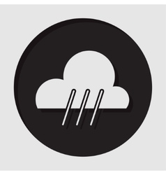 Information icon - rainy symbol vector